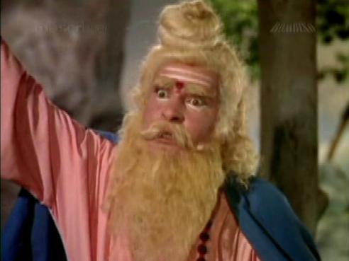 Shammi Kapoor in disguise as a sadhu in Rajkumar...