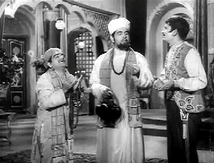 Sangeetkaar Maharaj Kohinoor Baba and his chela arrive at the senapati's