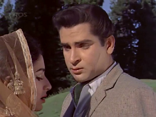 Shammi Kapoor with Sharmila Tagore in Kashmir ki Kali