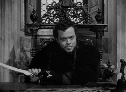 Orson Welles as Cesare Borgia in Prince of Foxes