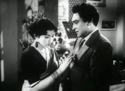 Madhubala and Ashok Kumar in Ek Saal