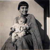 Mama, with my sister, Swapna