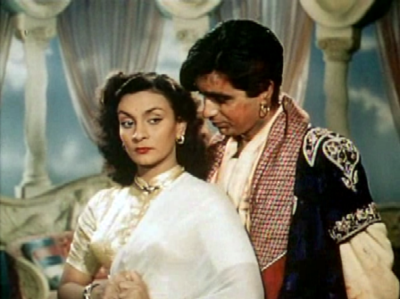 Dilip Kumar and Nadira in Aan