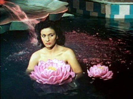 A princess's equivalent of the rubber ducky: lotuses