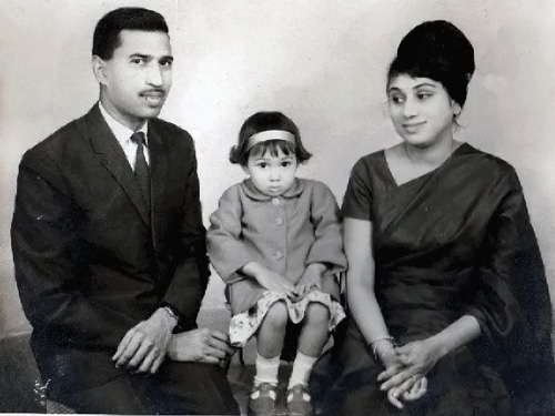 My father, mother and sister