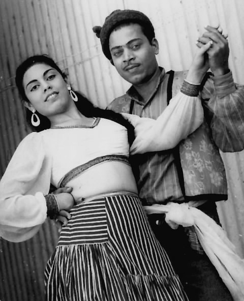 Edwina, with her brother-in-law, Shinde