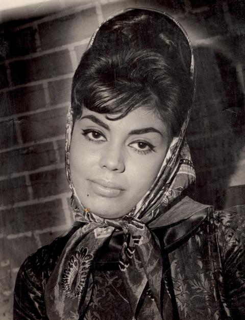 Edwina, at a film studio in 1963