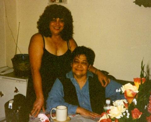 Edwina with Pamela