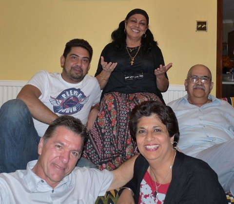 Edwina with her family