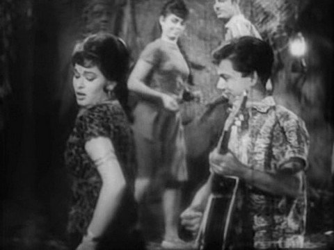 Edwina in a song from Poonam ki Raat