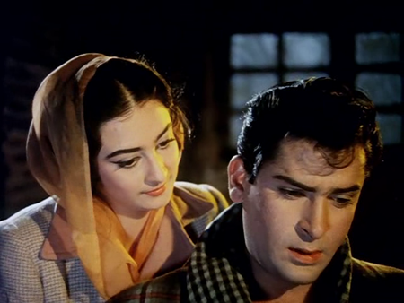 Shammi Kapoor and Saira Banu in Junglee