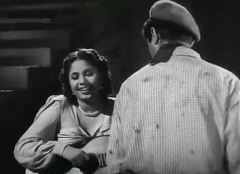 Geeta Bali and Dev Anand in Baazi