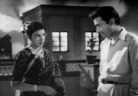 Dev Anand and Shubha Khote in Paying Guest