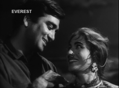 Sunil Dutt and Madhubala in Insaan Jaag Utha