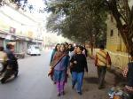 Swapna leads the walk