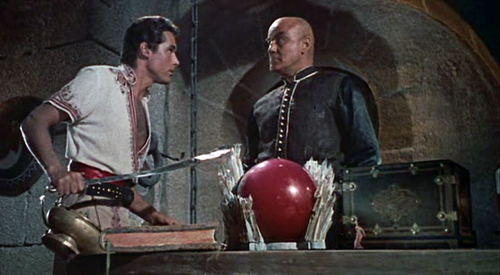 Kerwin Matthews with Torin Thatcher in The 7th Voyage of Sinbad
