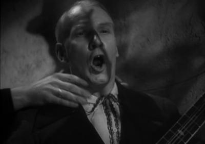 The singer is strangled