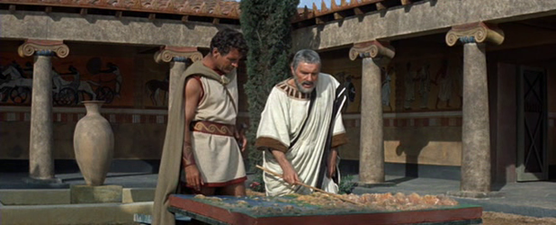Themistocles and Leonidas discuss a strategy