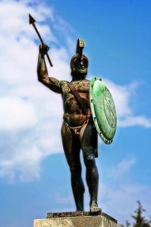 The Leonidas Monument at Thermopylae