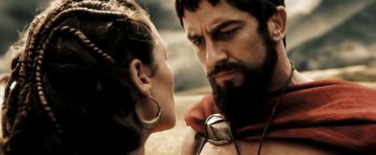Leonidas bids farewell to Gorgo