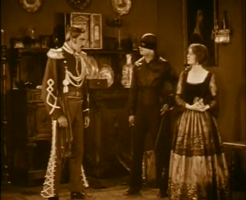 Zorro arrives to protect Lolita from Ramon