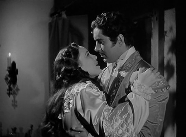 Tyrone Power and Linda Darnell in the 1940 The Mark of Zorro