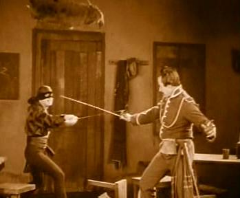 Zorro fights Gonzales
