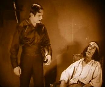 Diego/Zorro comes home to find Bernardo sleeping