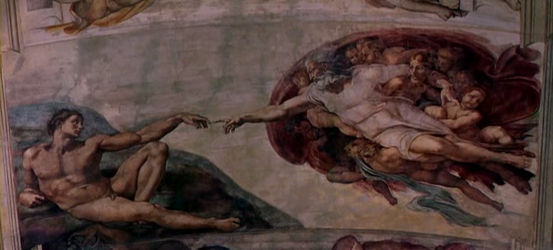 Michelangelo's The Creation of Man