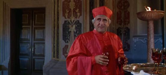 Cardinal Giovanni de' Medici tries to reason with Michelangelo...