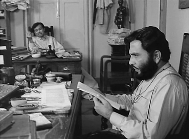 Umapada and Bhupati at the office of The Sentinel