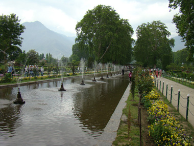 A view of part of the Shalimar Bagh