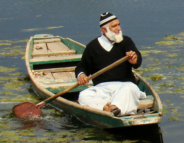 Maqbool chacha in his shikara