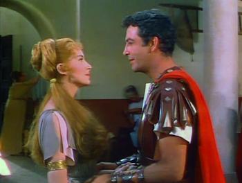 Deborah Kerr and Robert Taylor in Quo Vadis