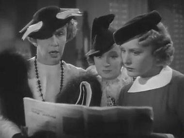 Nesta, Eugenia and Ann get a look at the cartoons