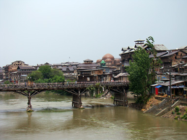 A view of old Srinagar - across the Jhelum