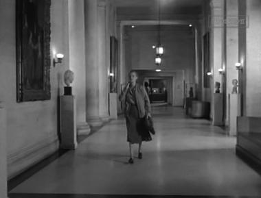 Elizabeth arrives at work