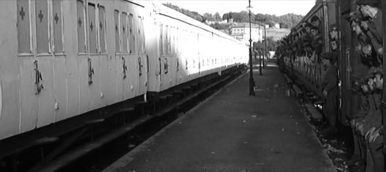 An ominous train arrives at the station