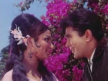 Rajesh Khanna with Sharmila Tagore in Aradhana
