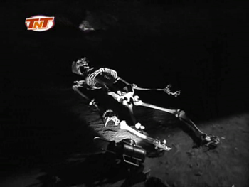 ... and ancient skeleton