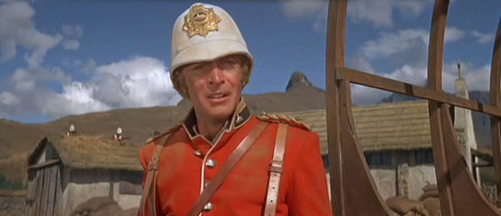 Michael Caine as Lieutenant Gonville Bromhead in Zulu
