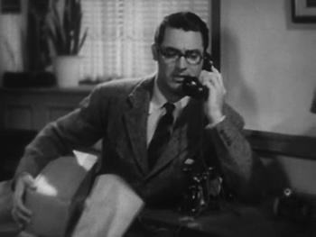 David receives the Brontosaurus bone - and a phone call