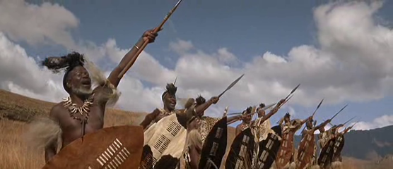 The Zulus, heading towards the mission station