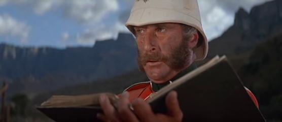 Nigel Green as Colour Sergeant Bourne in Zulu