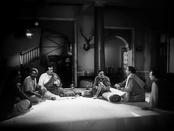 A meeting is held at the zamindar's haveli