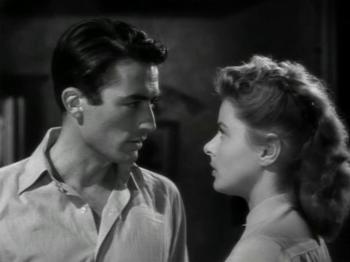 Ingrid Bergman and Gregory Peck in Spellbound