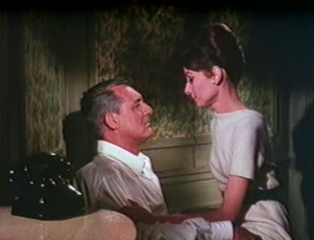 Audrey Hepburn as Reggie, with Cary Grant