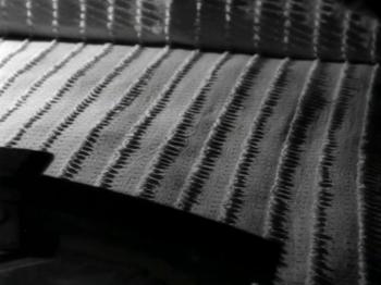 Dark stripes on a white background: a recurring theme