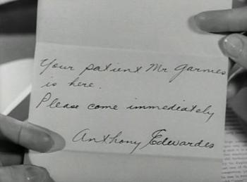 Dr Edwardes sends Constance a note