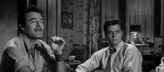 Tony Curtis and Gilbert Roland in The Midnight Story